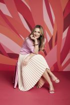 "Drew Barrymore as Crocs brand ambassador for the ""Come As You Are"" campaign in 2017"
