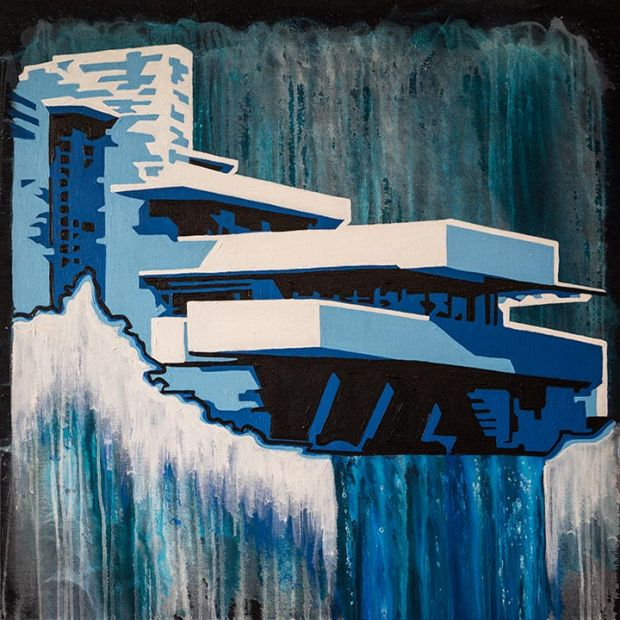 """Falling Water into Abstraction"" by Jeremy Penn"
