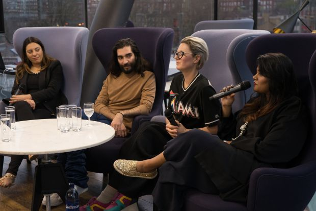 From left: Francesca Rosella, Cute Circuits; Golan Frydman, Fyodor Golan; Brooke Roberts-Islam, Brooke Roberts Innovation Agency; Ishwani Thopte, Centre for Fashion Enterprise
