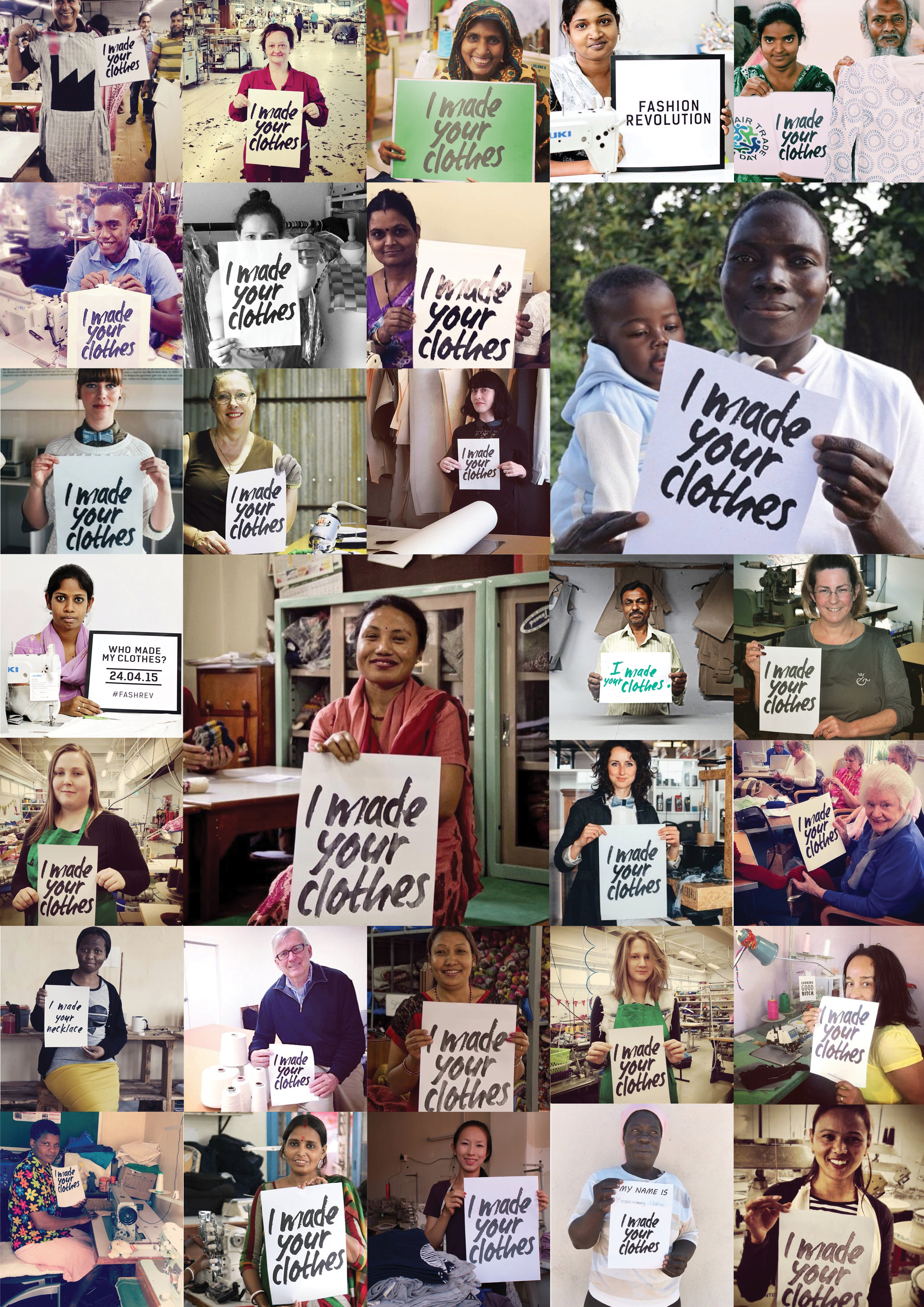 Fashion Revolution campaign #whomademyclothes