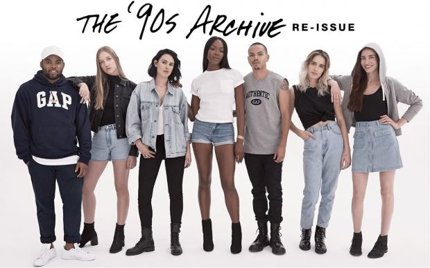 Gap launches 90s archive limited edition collection.