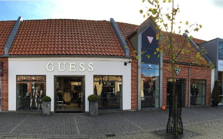 Guess outlet store in Ringsted, Denmark.