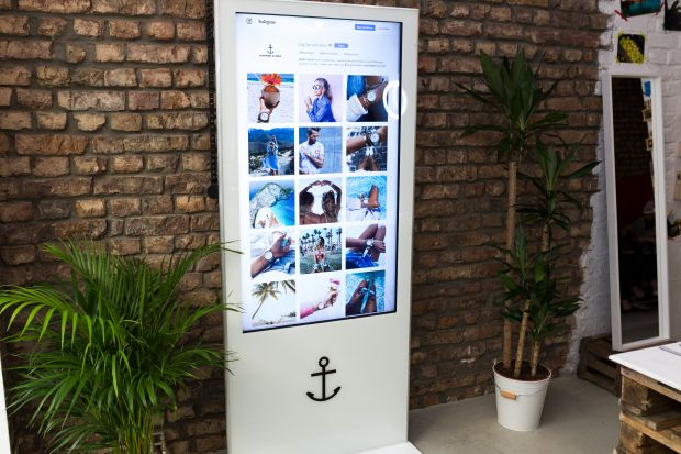 touchscreen, pop-up store in Cologne