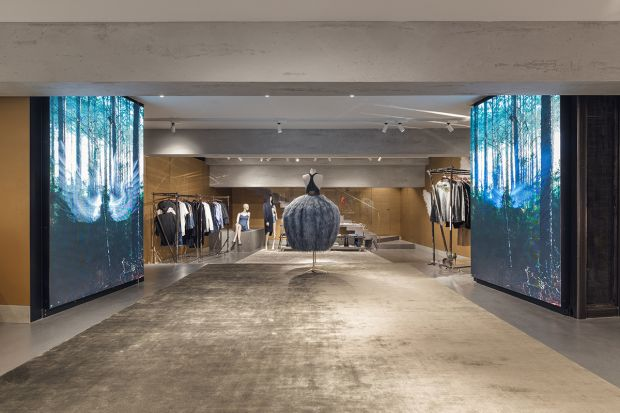 Inside the fourth floor of the new Milan flagship