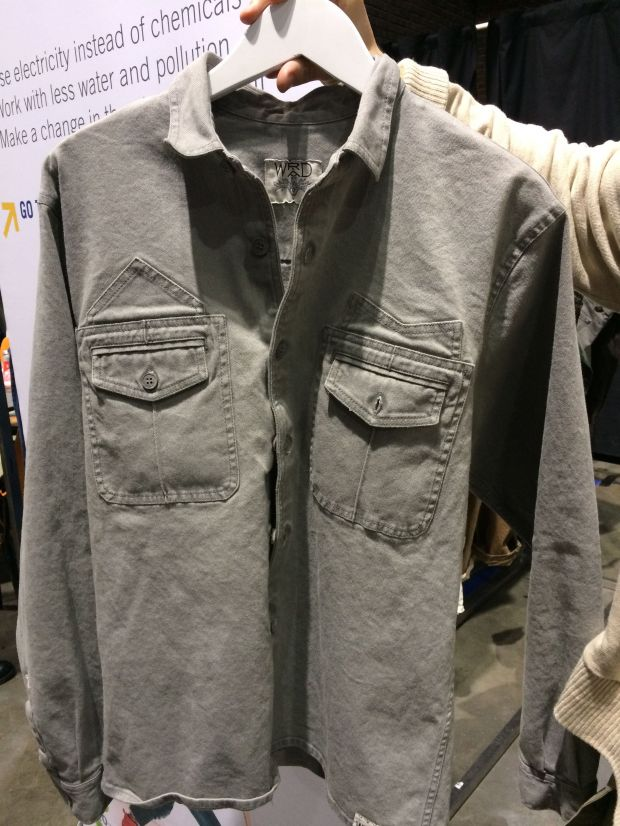 Pure Denim Shirt dyed with Graphite