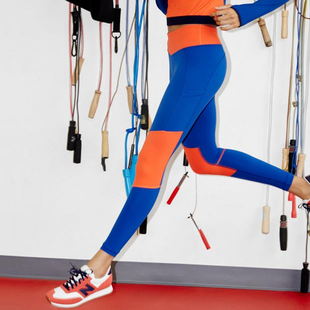 New Balance x J. Crew activewear collection.