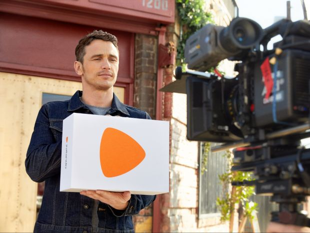 James Franco on set at the Zalando shoot