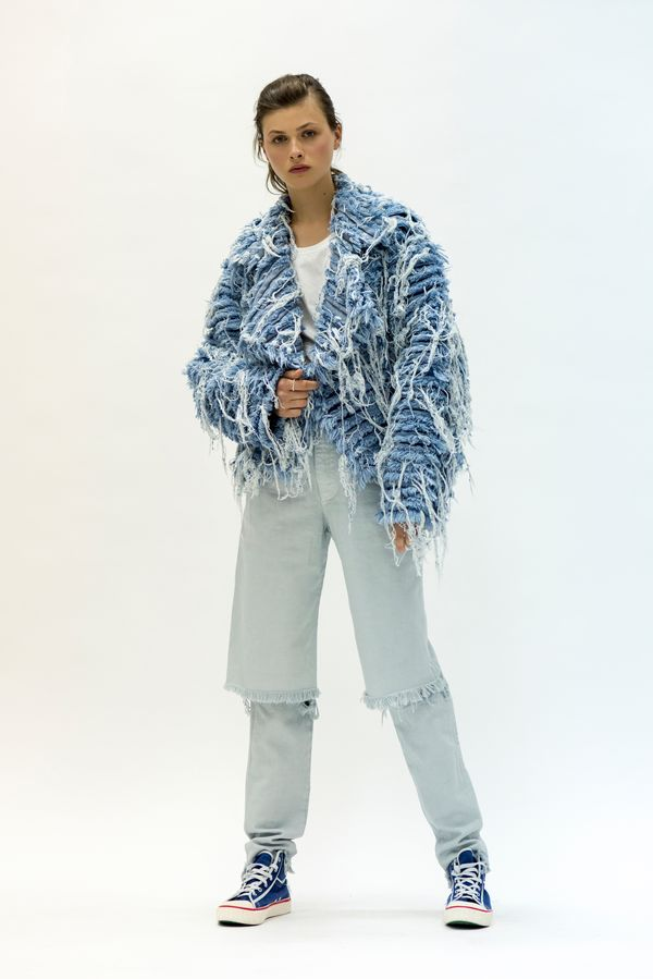 Ksenia-Schnaider's signature Demi-Denims and fur