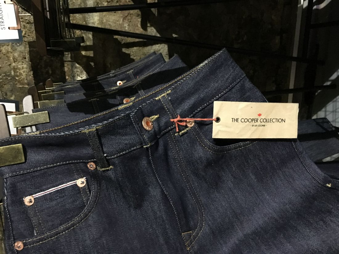 The Cooper Collection selvedge jeans.
