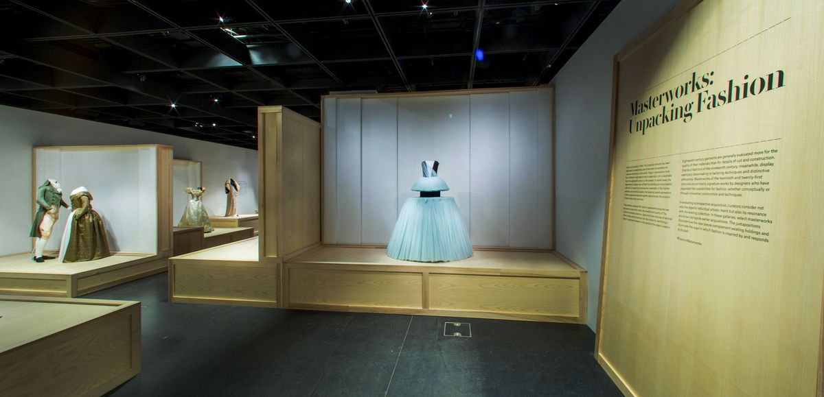 """Masterworks: Unpacking Fashion"" - gallery view."
