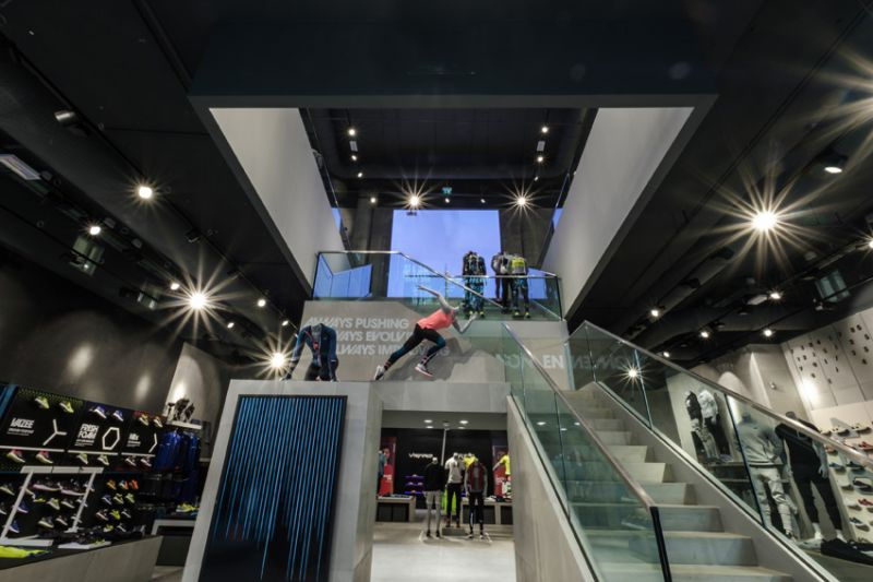 New Balance flagship store in Milan.