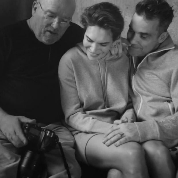 Photographer Peter Lindbergh, Ayda Fields and Robbie Williams