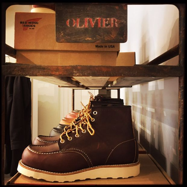 Red Wing shoes are on of the current bestsellers at Olivier.