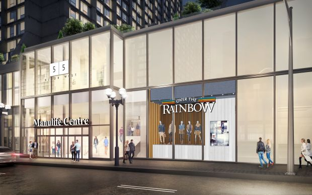 Rendering of the new store location at the Manulife Centre