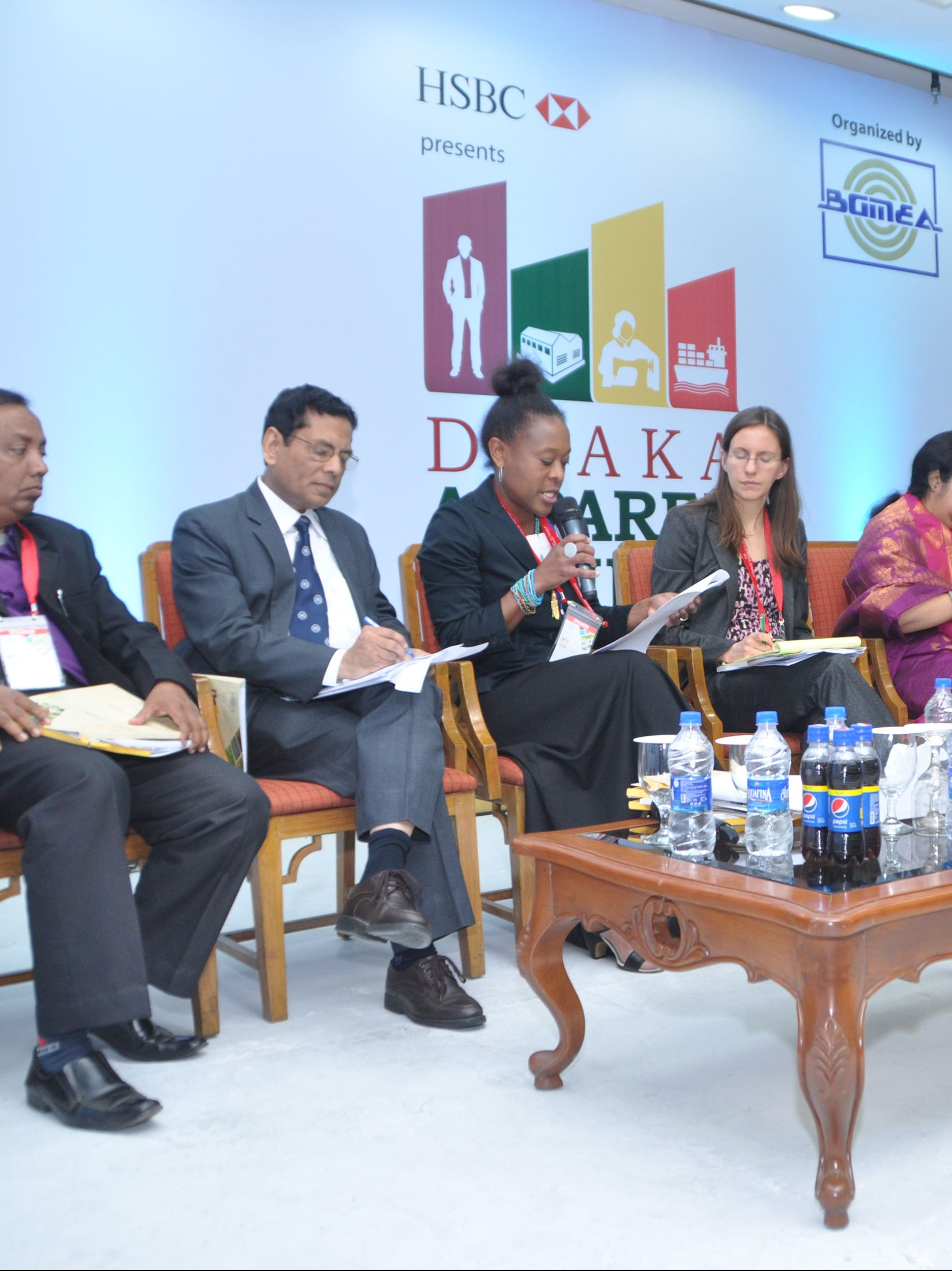 Speakers at Dhaka Apparel Summit Dec 2014