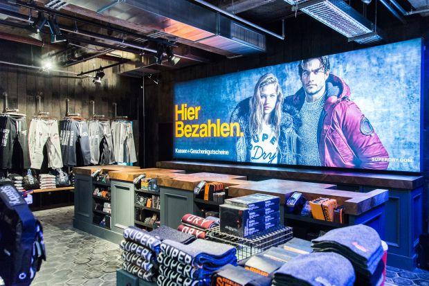 new Superdry location at Kranzler Eck