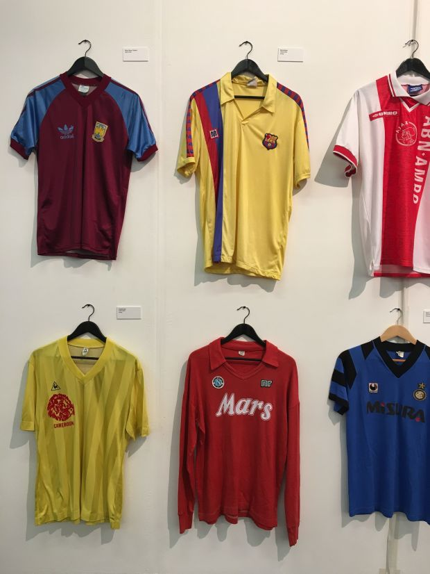 The Art of the Football Shirt display