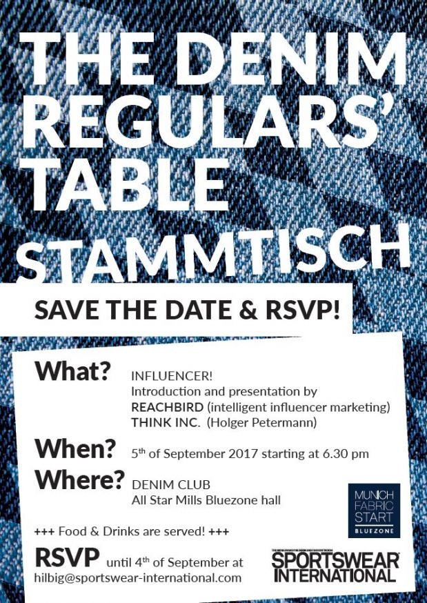 The Denim Regulars' Table Stammtisch