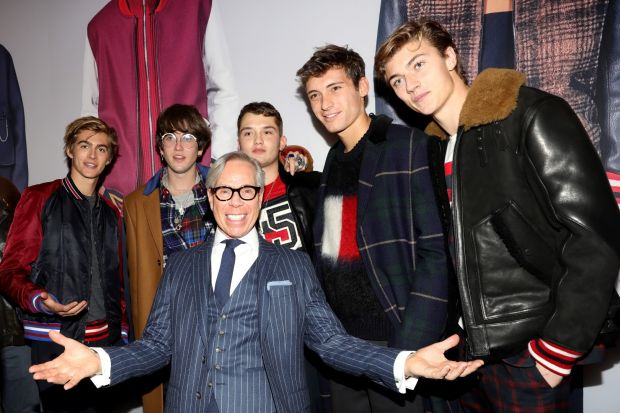 Tommy Hilfiger (front in the middle) with friends & VIPs