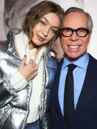 Tommy Hilfiger with model and collaborator Gigi Hadid