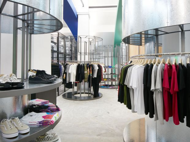 Various brand and general spaces spread across the 1,145-sq.-meter store.
