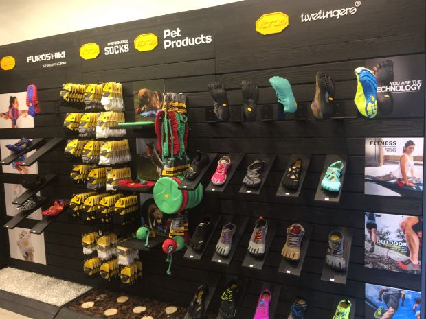 Consumers can also find the iconic FiveFingers shoes.