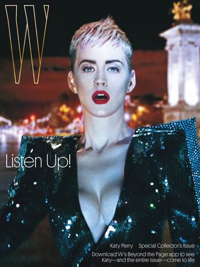 W Magazine cover with AR features