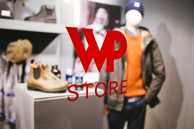 Shop window of the innovative WP Store