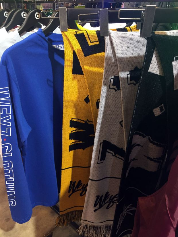 Print tees and football scarves by Weyz Clothing