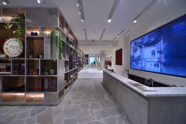 Atmosphere in the Milan flagship