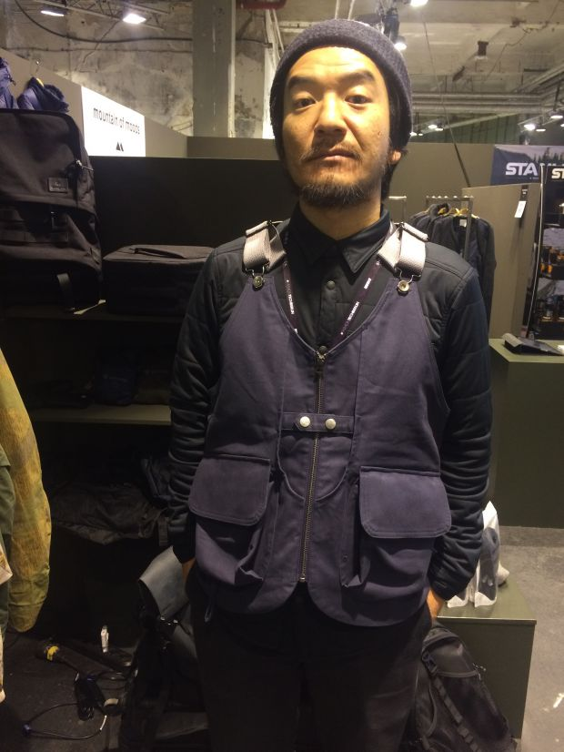 Yuji Bando in a super functional vest by Snow Peak