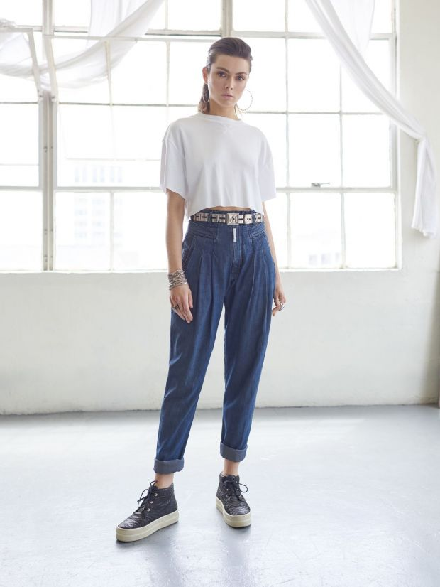 "Z Cavaricci ""Cateye"" retro pants"