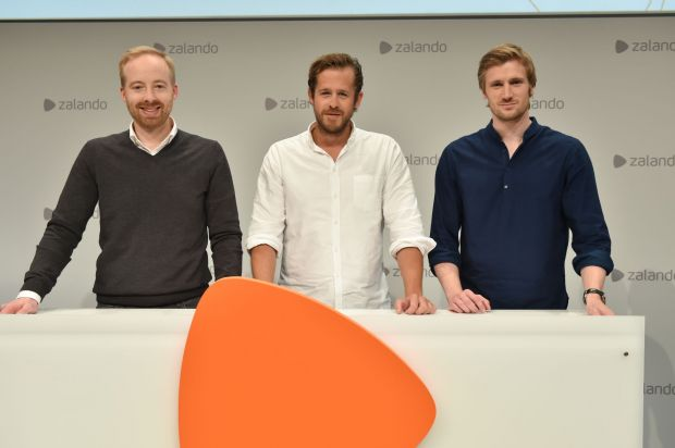 Zalando's management board (from l.): Rubin Ritter, Robert Gentz, David Schneider