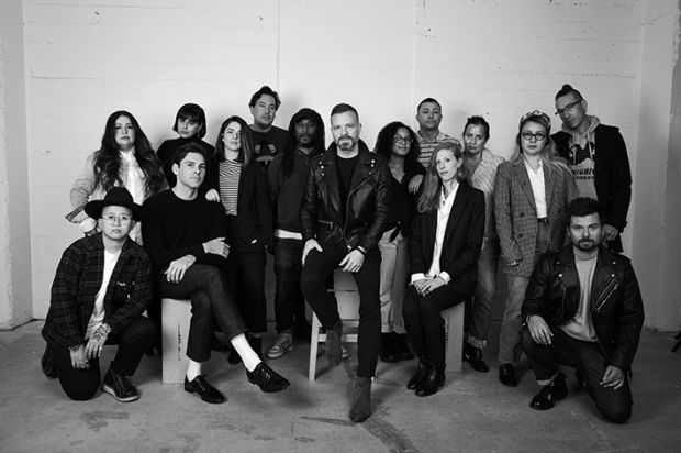 The 7 For All Mankind creative team, with Simon James Spurr in the center
