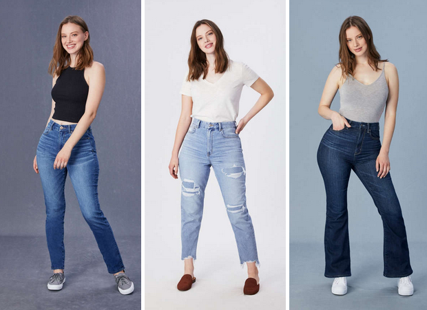 New curvy jeans offer by American Eagle