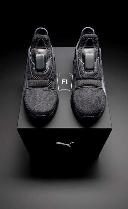 Puma's first Fi footwear style to be launched is a training shoe that is made for workouts and light running.