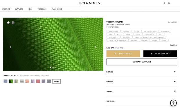 Bsamply online platform screenshot