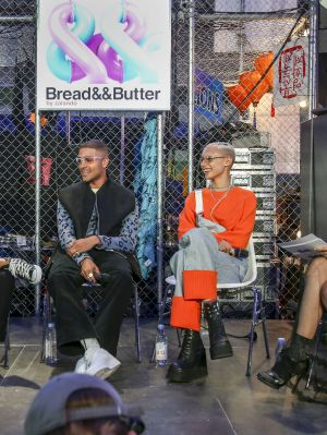 """Whats next"" panel talk with model Jazzelle Zanaughitti, Elias Riadi (from PAQ), Kodie Shane (Hip Hop artist) and stylist and fashion director of 032C Marc Goehring"