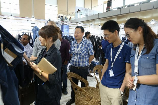 Visitors at Bangladesh Denim Expo