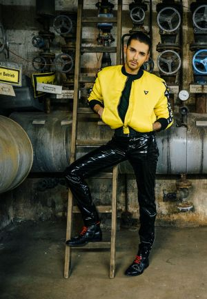 Bill Kaulitz in his own designs