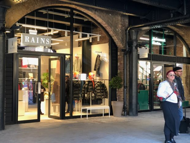 Danish brand Rains has opened a store in London's new shopping spot Coal Drops Yard
