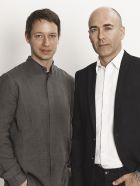 Designer Damir Doma and Alessandro Locatelli, CEO at Rossignol Apparel