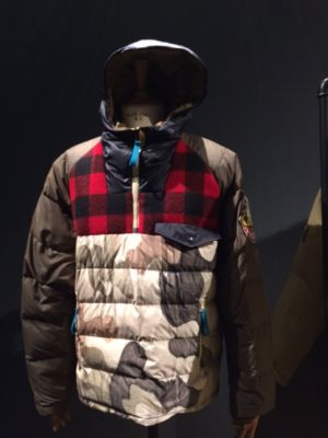 This capsule, Griffin X Woolrich, focuses on circular economy and was created by UK designer Jeff Griffin.