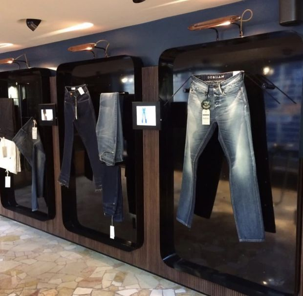 Inside the Candiani Denim store in Milan