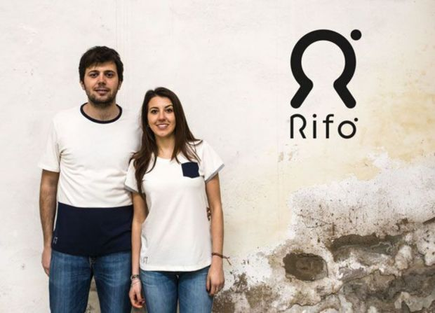 Niccolò Cipriani and Clarissa Cecchi, founders of Rifò