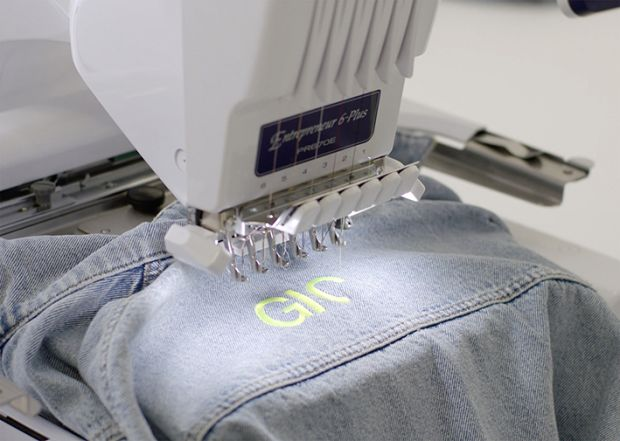 Customers may have a word of up to 11 characters embroidered onto a selection of nine different denim pieces within the TRF range.
