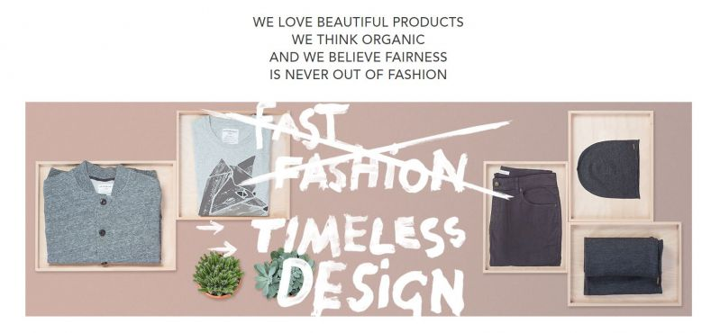 Part of Armedangels philosophy, seen here on its website, is promoting sustainable fashion.