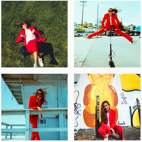 Instagram posts of Marina Testino's #OneDressToImpress campaign