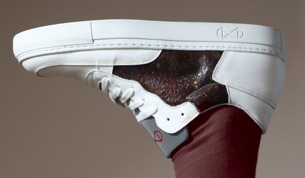 Israeli designer Shahar Livne has teamed up with luxury footwear brand Nat-2 to create the world's first sneakers made of blood.