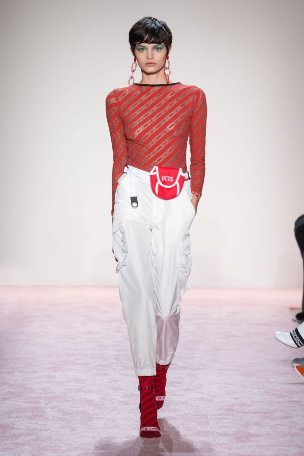 Red and White: GCDS on the runway